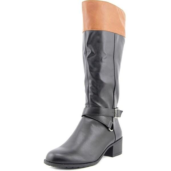 Style & Co Vedaa Wide Calf Women Blk/Brl Boots