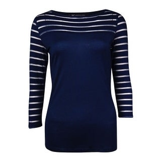 INC International Concepts Women's Illusion Stripe Knit Top