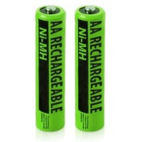 Replacement Panasonic PV-DC1580 NiMH Camera Battery - 2000mAh / 1.2v (2 Pack)