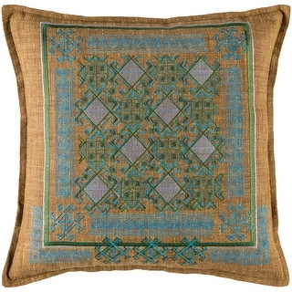 Link to Decorative Rachel Sky Blue 18-inch Throw Pillow Cover Similar Items in Decorative Accessories