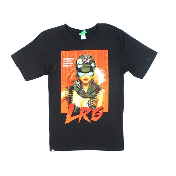 b112efeaa Shop LRG NEW Black Men s Size Small S Short Sleeve Graphic Tee T-Shirt -  Free Shipping On Orders Over  45 - Overstock - 21855911