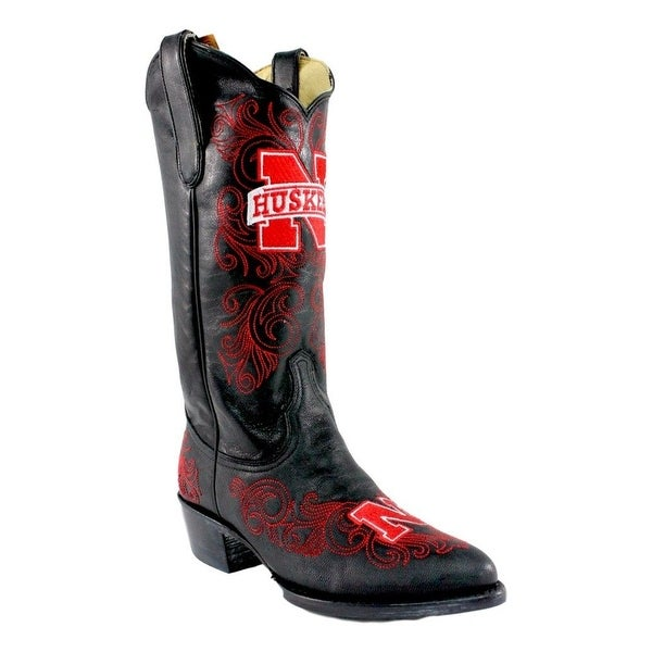 Gameday Boots Womens Nebraska Pointed Toe Embroidered