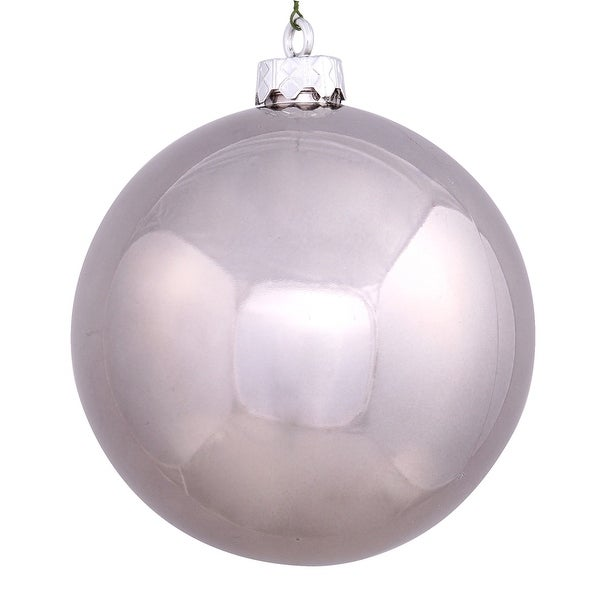 "4"" Pewter Shiny Ball UV Drilled 6/Bag"