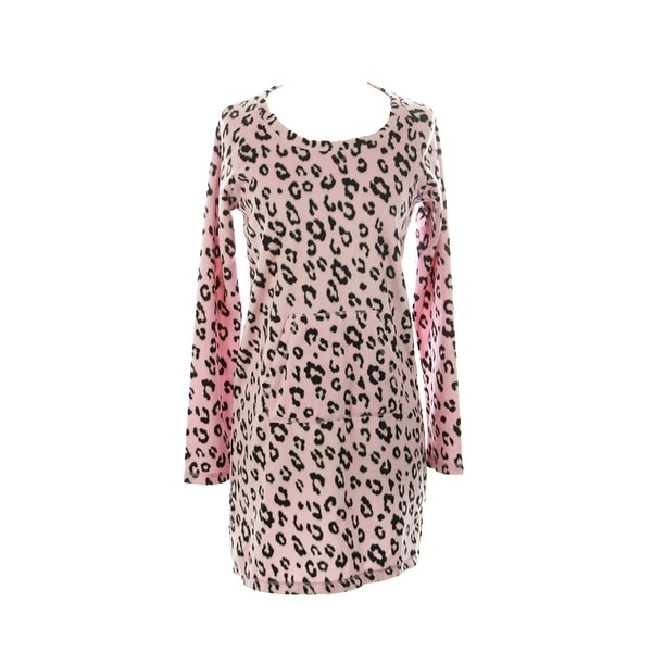 38c6eee0432a2 Shop Jenni Pink Leopard Print Super Soft Tunic XS - Free Shipping On ...