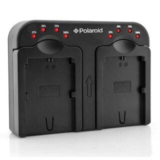 Polaroid Dual Battery Charger For The Nikon EN-EL14, EN-EL15, EN-EL20 Batteries