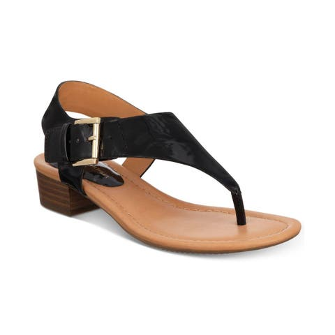 Tommy Hilfiger Womens Kitty 2 NuBuck Split Toe Casual Slingback Sandals