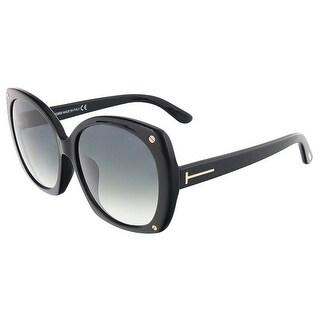 Tom Ford FT0362-F/S 01B GABRIELLA Shiny Black Oversized sunglasses