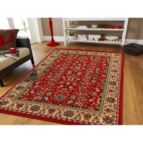 Copper Grove Bondy Red Area Rug with Jute Backing