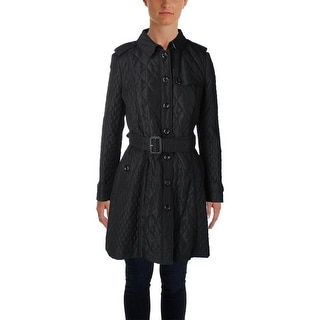Burberry London Womens Coat Quilted Long Sleeves - 10
