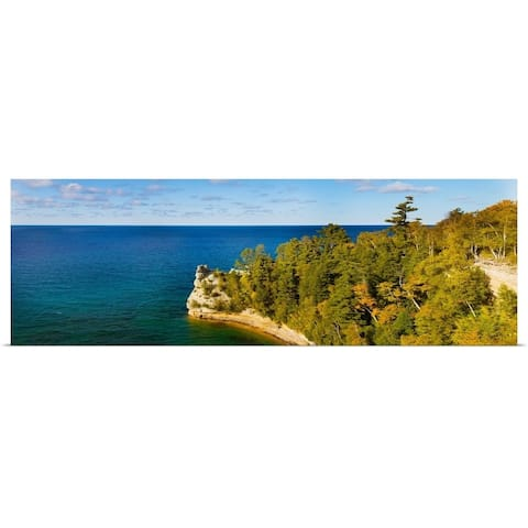 """""""Miners Castle, Pictured Rocks National Lakeshore, Michigan"""" Poster Print"""