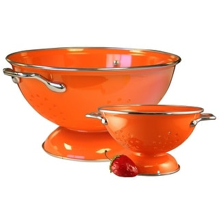 Reston Lloyd Colander Set, 1qt and 3qt, Orange