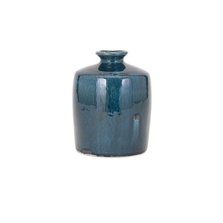 IMAX Home 13308  Arlo Small Ceramic Vase - Blue