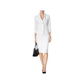 Le Suit Womens Petites Skirt Suit 2PC Printed