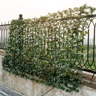 Costway 59''x95'' Faux Ivy Leaf Decorative Privacy Fence Screen Artificial Hedge Fencing