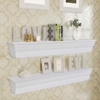 vidaXL Wall Shelves 2 pcs White