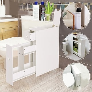 Costway Narrow Wood Floor Bathroom Storage Cabinet Holder Organizer Bath Toilet|https://ak1.ostkcdn.com/images/products/is/images/direct/5c5cee8db4203c4d90dcdad59a66dd99cadaeec8/Costway-Narrow-Wood-Floor-Bathroom-Storage-Cabinet-Holder-Organizer-Bath-Toilet.jpg?impolicy=medium