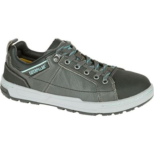 """""""CAT Footwear Brode Steel Toe - Dark Grey Mint 10(W) Work Shoe"""""""