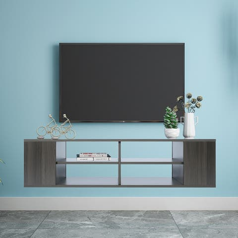 Adjustable Wall Mounted Media Stand,Floating TV Stand Component Shelf