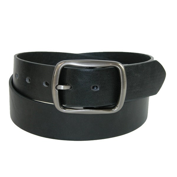 CTM® Men's Casual Center Bar Buckle Belt