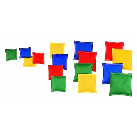 (2 Pk) Bean Bags 3 X 3 Nylon Cover Plastic Bead Filling 12 Per Pk