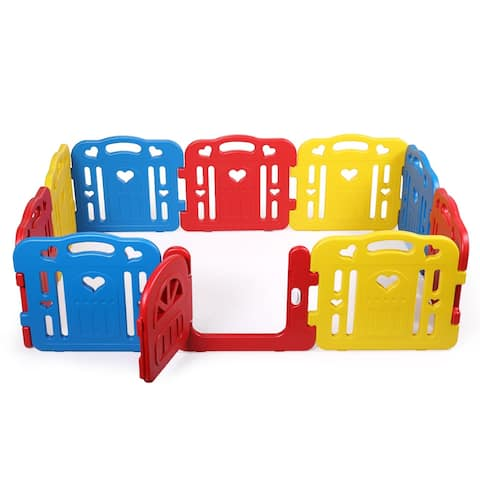 10 Panel Play Yard Baby Safety Center Kids Indoor Outdoor Play Pens