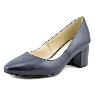 Cole Haan Eliree Round Toe Leather Heels