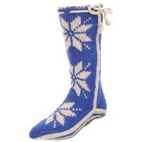 Woolrich Women's Chalet Sock Slipper, Ocean Blue, Size 6.0 - 6