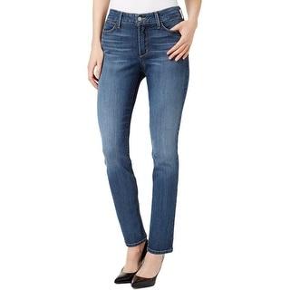 NYDJ Womens Alina Slim Leg Jeans Denim Stretch