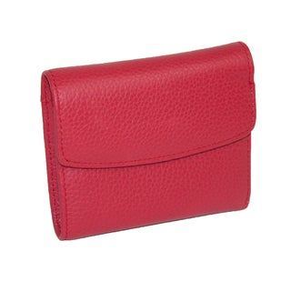 Buxton Women's Leather Mini Tri-Fold Wallet (Option: Red - One size)
