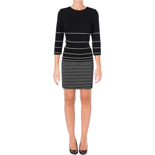 Shop Calvin Klein Womens Semi Formal Dress 34 Sleeve Knee Length
