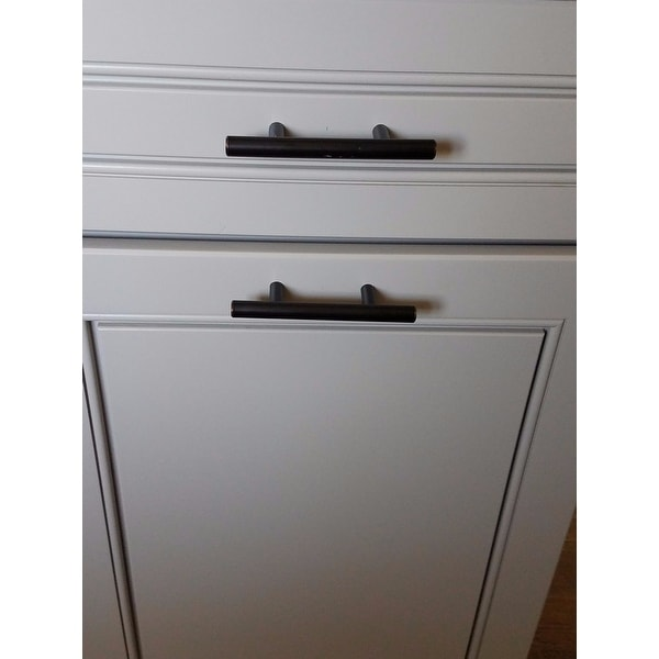 GlideRite 5-inch Oil-rubbed Bronze Solid Steel Cabinet Bar Pulls ...