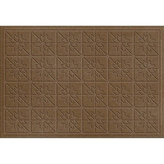 843520023 Water Guard Star Quilt Mat in Dark Brown - 2 ft. x 3 ft.