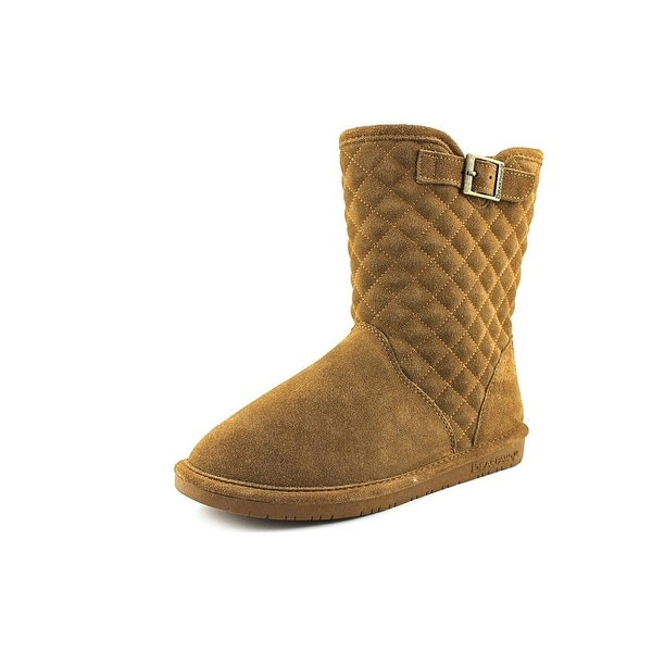 Bearpaw Leigh Anne Women Round Toe Suede Brown Winter Boot