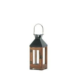Hartford Small Candle Lantern - Brown