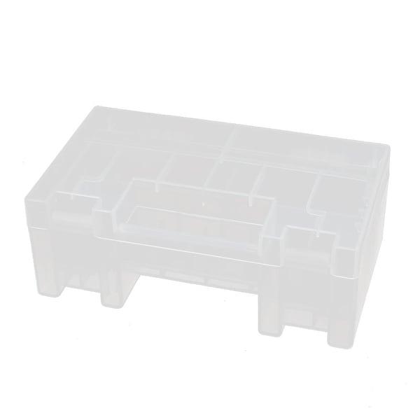 150mmx88mmx55mm Transparent Storage Case Hard Plastic Battery Holder Organizer
