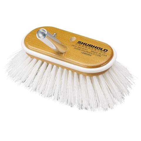 Shurhold 6 deck brush extra stiff white polypropylene