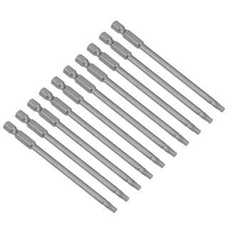 "10pcs 100mm Long 1/4"" Hex Shank T20 Torx Screwdriver Bits S2 High Alloy Steel - h1/4inch*100*t20 10pcs - H1/4inch*100*T20 10Pcs"