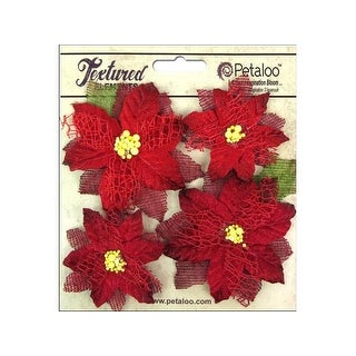 Petaloo Textured Elements Poinsettias Red