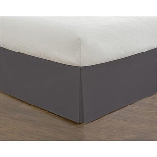 Todays Home Basic Microfiber Tailored 14 in. Bed Skirt Grey - Full