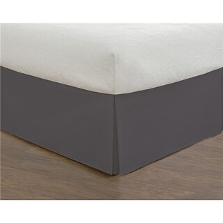 Todays Home Basic Microfiber Tailored 14 in. Bed Skirt Grey - Queen
