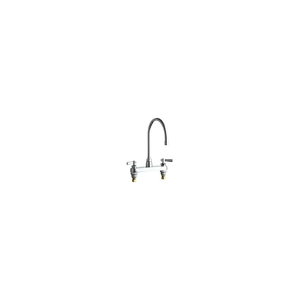 Chicago Faucets 1100-GN8AE3-369AB Commercial Grade High Arch Kitchen Faucet  with Lever Handles - 8\
