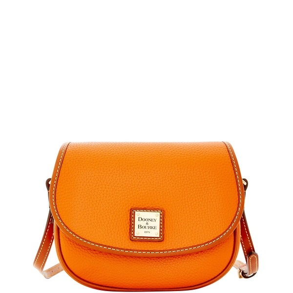 Dooney & Bourke Pebble Grain Hallie (Introduced by Dooney & Bourke at $188 in Dec 2015) - TANGERINE