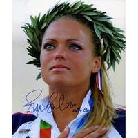 Jennie Finch signed Olympic Team USA 8x10 Photo USA Gold 2004 Olympic Ceremony