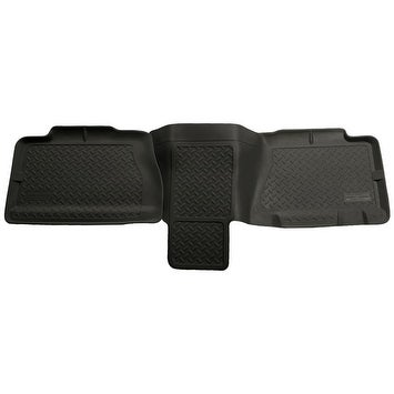 Husky Classic 2002-2003 Chevrolet Avalanche 1500/2500 2nd Row Black Rear Floor Mats/Liners