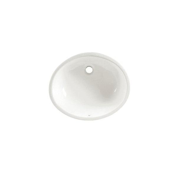 "American Standard 0495.300 Ovalyn 15"" Undermount Porcelain Bathroom Sink - White"