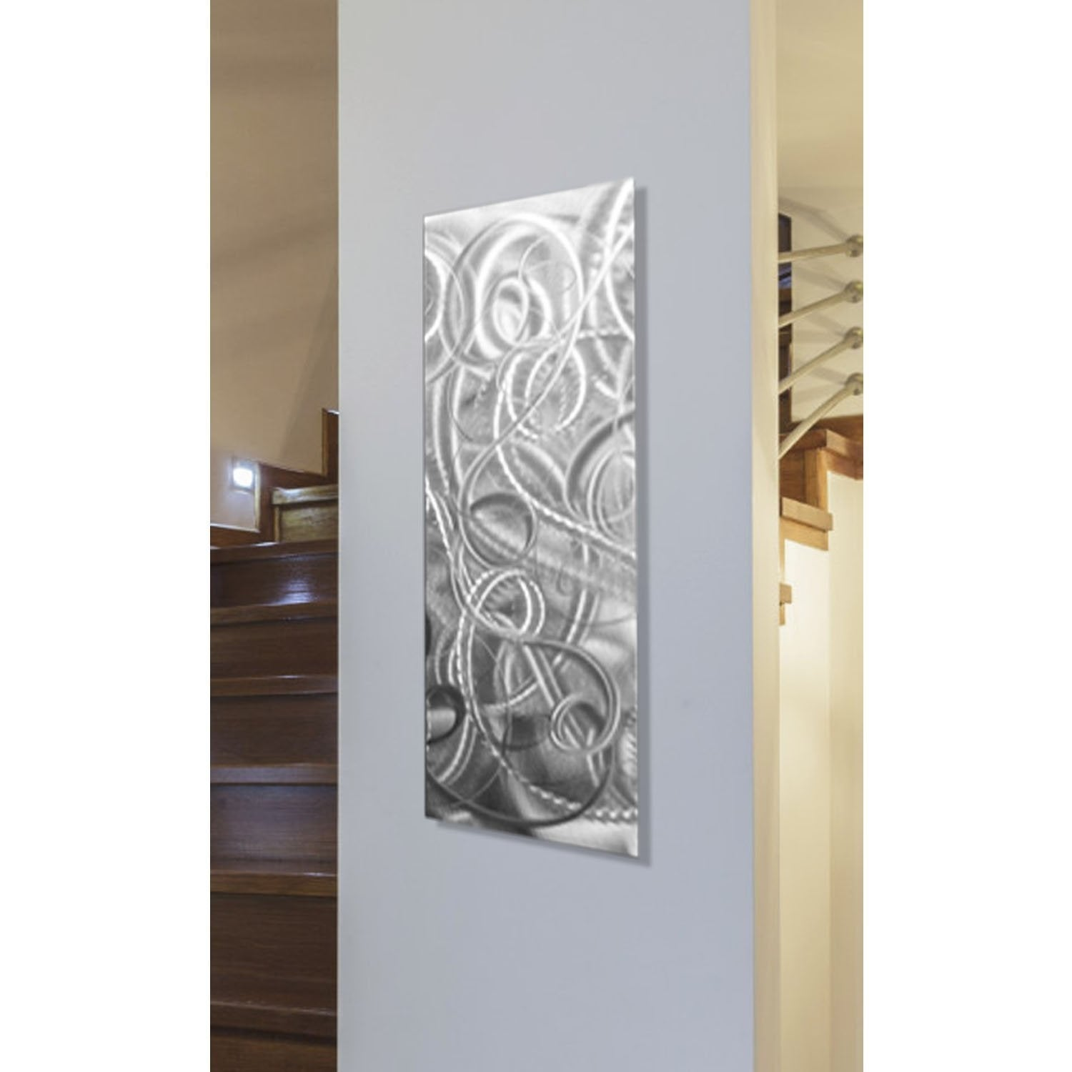 Statements2000 Silver Metal Wall Art Accent Abstract Modern Decor By Jon Allen Delight