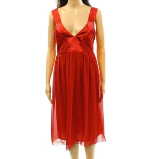 London Times NEW Red Ruched Women's Size 20W Plus Empire Waist Dress
