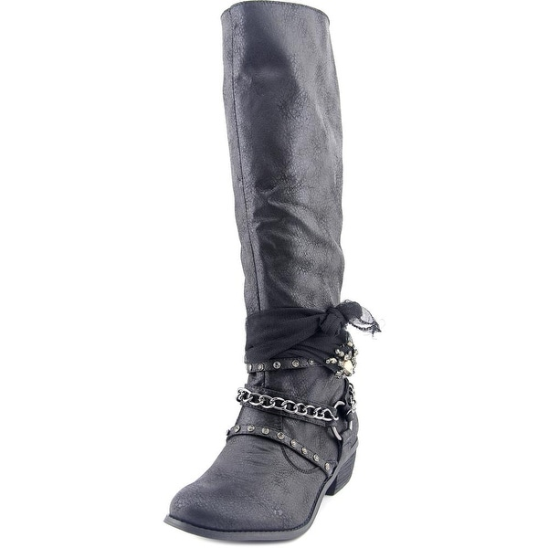 Not Rated Tutsan Women Round Toe Synthetic Black Knee High Boot