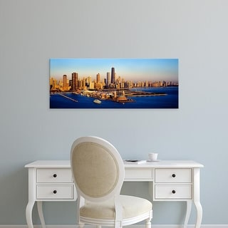 Easy Art Prints Panoramic Image 'View of a city, Navy Pier, Lake Michigan, Chicago, Cook County, Illinois' Canvas Art