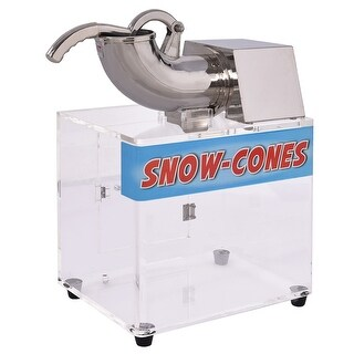Costway Electric Snow Cone Machine Ice Shaver Maker Shaving Crusher Dual Blades